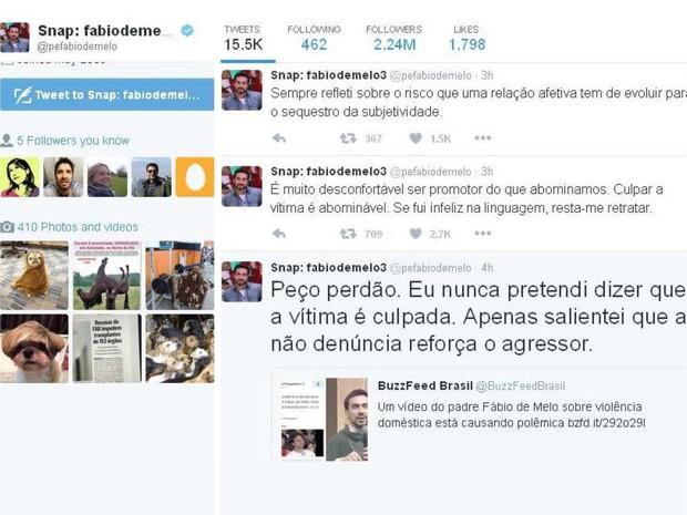 Padre Fabio de Melo faz retratação na web após polêmica (Foto: Reprodução/Twitter)