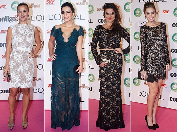 Moda - Carolina Dieckmann, Giovanna Lancellotti, Laryssa Dias e Raquel Bertani (Foto: Léo Marinho e Roberto Filho/AgNews)