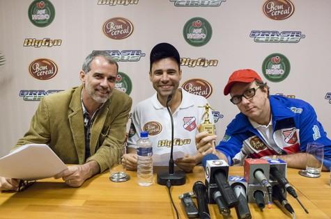 Mauro Farias, Rodrigo Sant'Anna e Augusto Madeira  (Foto: Tata Barreto/TV Globo)