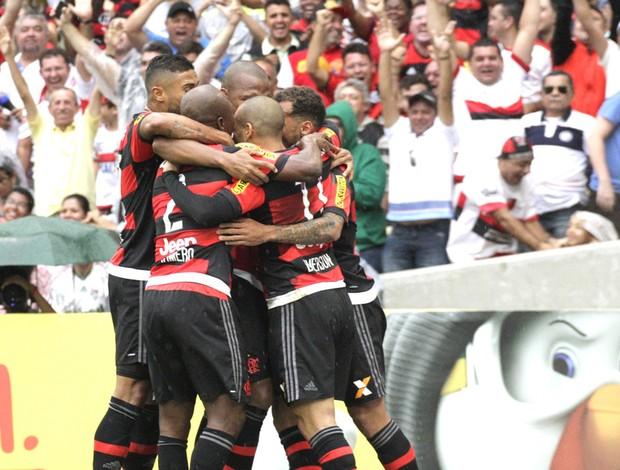 Comemoração do Flamengo contra o Fluminense