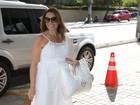 Solange Almeida antecipa parto e vai para a maternidade dar à luz