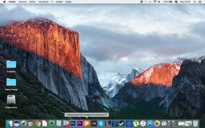 Visualmente, pouco muda no macOS Sierra (Foto: Reprodução/Felipe Vinha)