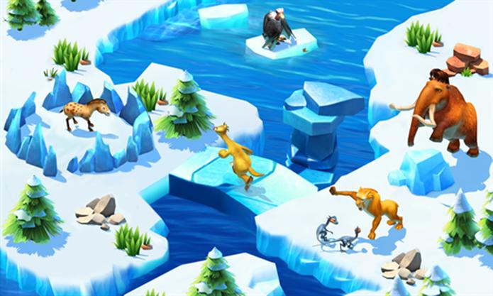 A Era do Gelo: Aventuras é o novo game da franquia para Windows Phone (Foto: Divulgação/Windows Phone Store)