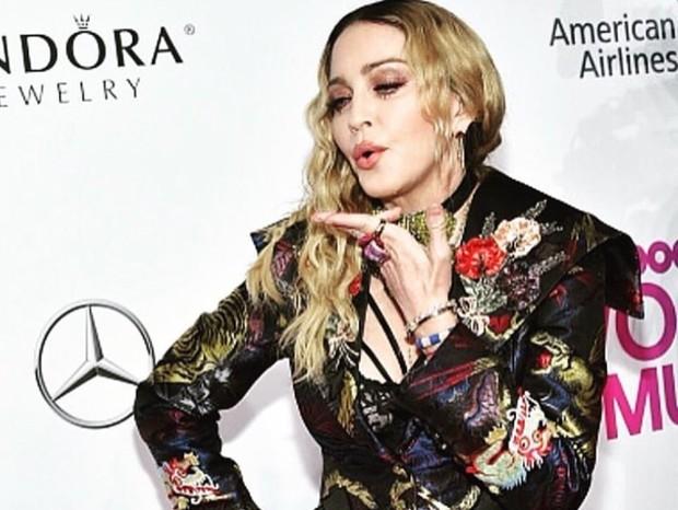 Madonna na premiação da revista americana Billboard, em Nova York (Foto: Reprodução/Instagram)