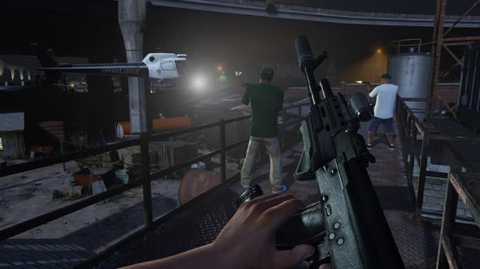 Modo FPS em primeira pessoa de GTA 5 promete mudar a experiência do jogo (Foto: Divulgação)