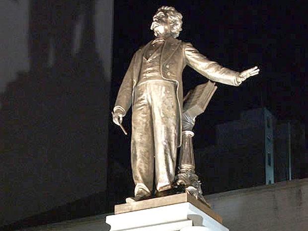 Monumento em homenagem ao maestro Carlos Gomes em Campinas (SP) (Foto: Luiz Granzotto/ Divulgação)