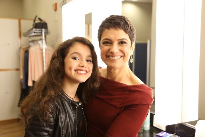 Sandra Annenberg com a filha Elisa (Foto: Carol Caminha/Gshow)