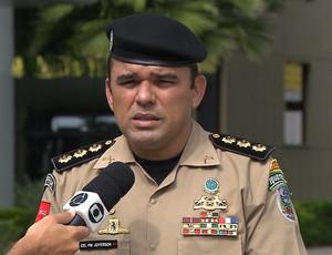 Coronel Jefferson Pereira, comandante do policiamento metropolitano de João Pessoa (Foto: Reprodução / TV Cabo Branco)