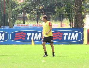 Rodrigo Alvim treino Flamengo (Foto: Janir Junior / Globoesporte.com)