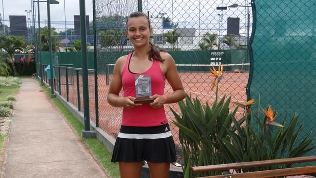 Tenista Jundiaí Erika Drozd (Foto: Arquivo pessoal)