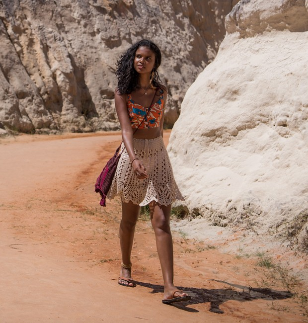 Aline Dias gravou sequências iniciais de 'Malhação' no Ceará (Foto: Divulgação/TV Globo)