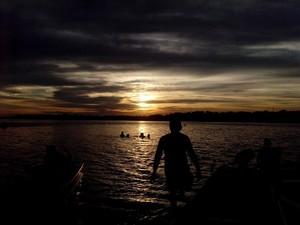 Praia grande é um dos destinos mais procurados por boa-vistenses durante o verão na capital (Foto: Emily Costa/ G1 RR)