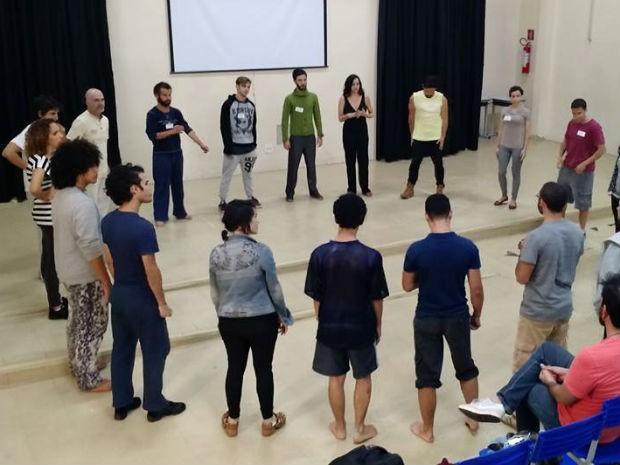 Atores durante audição de elenco de musical 'Boa Sorte' (Foto: Gabriel Estrela/Arquivo Pessoal)