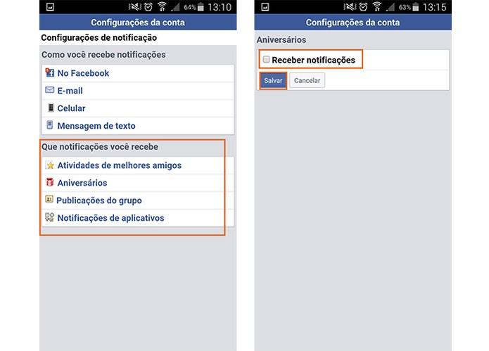 Desative as notificações de ações específicas no Facebook (Foto: Reprodução/Barbara Mannara)
