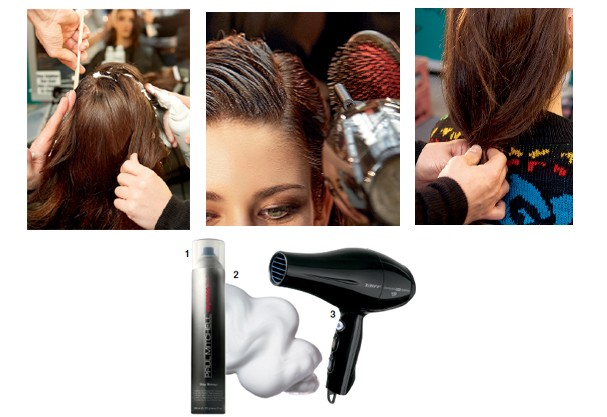 1. Spray fixador Stay Strong, R$ 81, Paul Mitchell; 2. Musse Design Foam, R$ 64,50, L'anza; 3. Secador Tourmaline Íon, R$ 200, Taiff (Foto: Imaxtree/Divulgação)