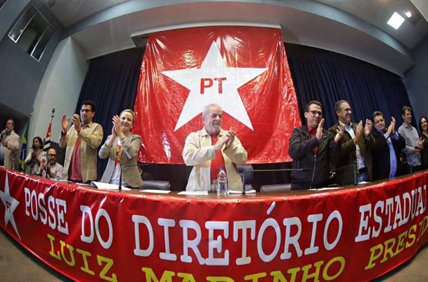 Lula participa da posse do PT-SP (Foto: Reprodução/ Instagram/ PT)