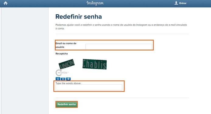 Adicione o nome de usuário ou e-mail para redefinir a senha (Foto: Reprodução/Barbara Mannara) (Foto: Adicione o nome de usuário ou e-mail para redefinir a senha (Foto: Reprodução/Barbara Mannara))