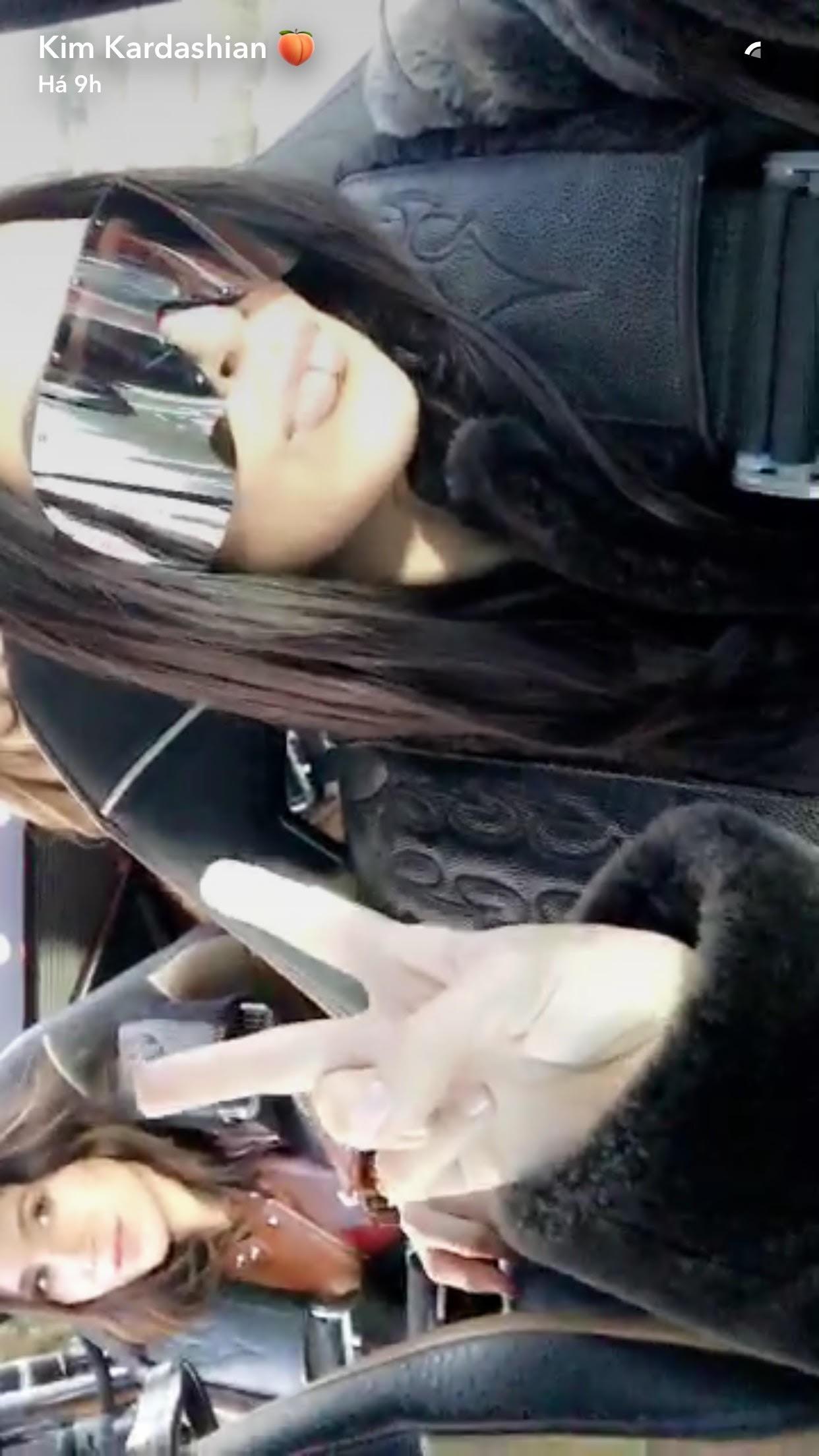 Kim Kardashian (Foto: Reprodução/Snapchat)