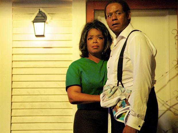 Oprah Winfrey e Forest Whitaker em 'The butler' (Foto: Divulgação)