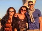 Giovanna Antonelli e Reynaldo Gianecchini posam para foto na Itália