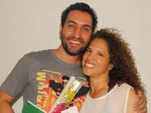 Felipe Trevilin e Magna Eliez, que interpretarão Jesus e Maria (Foto: Engenho da Notícia)