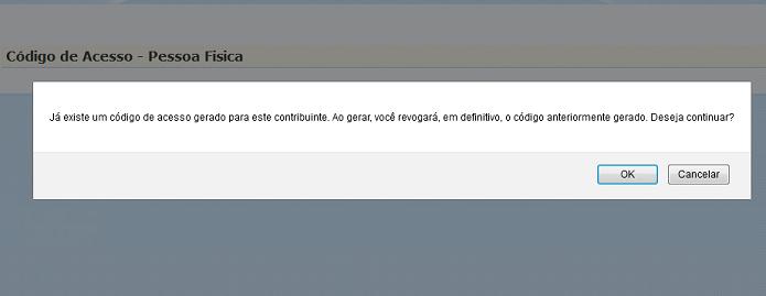 Alerta do e-CAC para que já possui um código de acesso (Foto: Divulgação/Receita Federal)