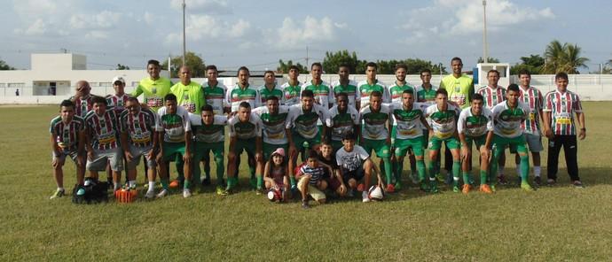 Baraúnas - elenco Campeonato Potiguar 2017 (Foto: Yhan Victor/ACEC Baraúnas/Divulgação)