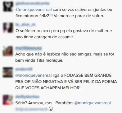 Comentários Monique Evans (Foto: Instagram / Reprodução)