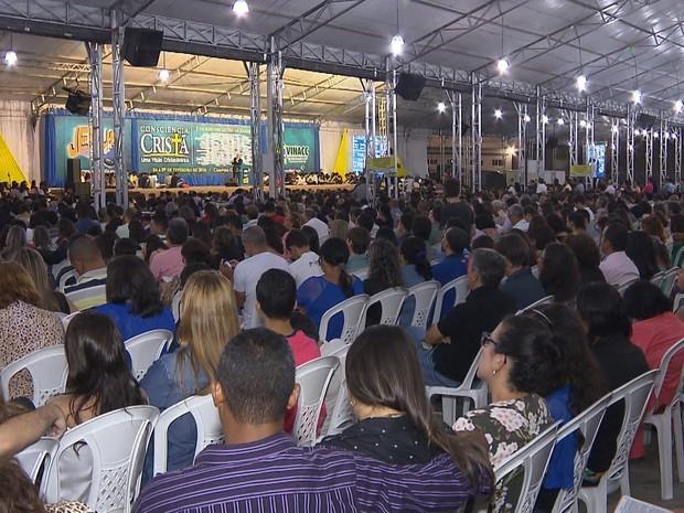 Consciência Cristã acontece no Parque do Povo  (Foto: Reprodução/TVParaíba)