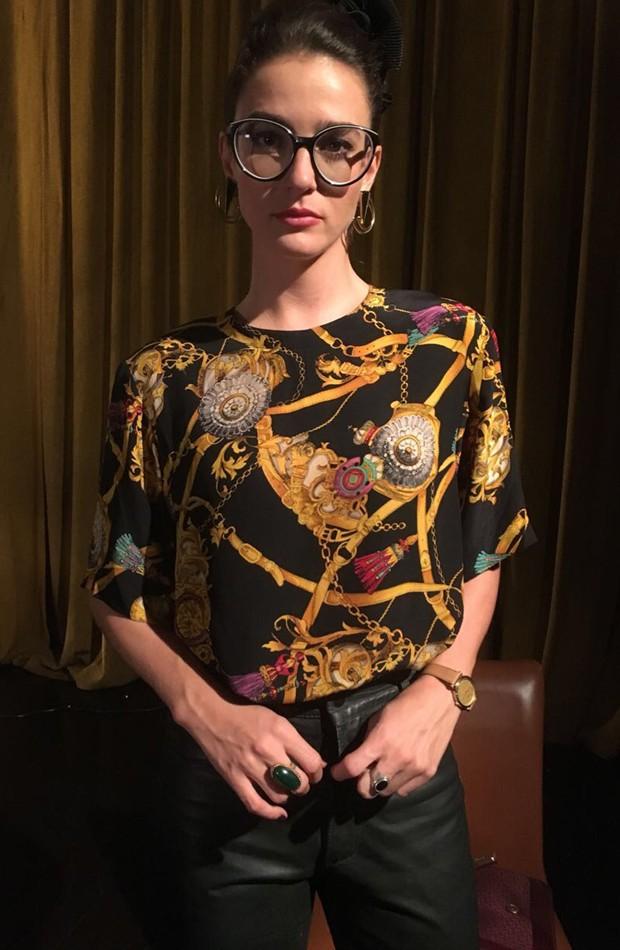 Priscila caracterizada para o filme 'O Paciente', em que interpreta a personagem Luísa (Foto: Divulgação)