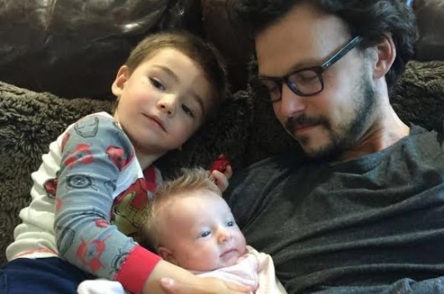 Guilherme Berenguer e os filhos, Sebastian e Rebecca (Foto: Arquivo pessoal)