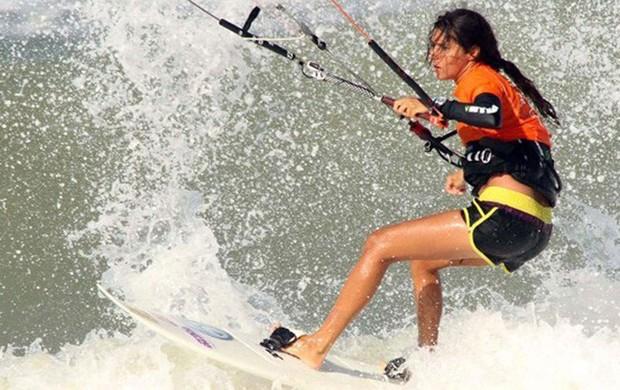 Nayara Licarião, Kitesurf da Paraíba (Foto: Divulgação)