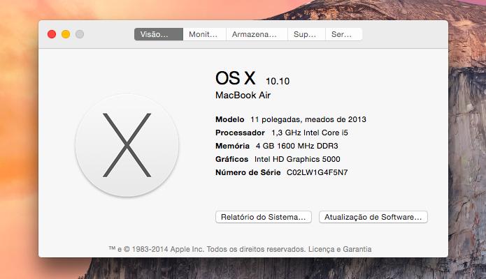 Atualização do sistema operacional da Apple (Foto: Reprodução)