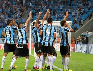 grêmio caracas arena libertadores pirata barcos gol (Foto: Lucas Uebel/Grêmio FBPA)