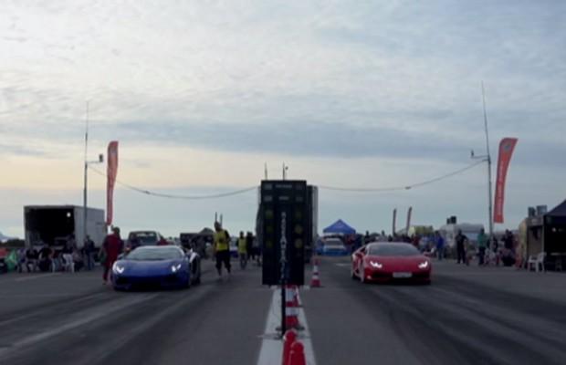 Lamborghini Aventador enfrenta Huracan (Foto: Reprodução)