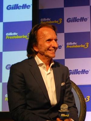 Emerson Fittipaldi em evento de patrocinador em São Paulo (Foto: Marcos Guerra)
