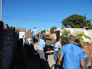 Cerca de 3,1 mil kg de materiais foram removidos no Bairro Icaraí (Foto: Semusa/PMD/Divulgação)