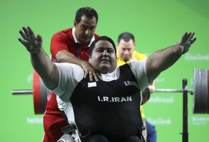 Siamand Rahman Irã halterofilismo ouro +107kg rio 2016 (Foto: Reuters)