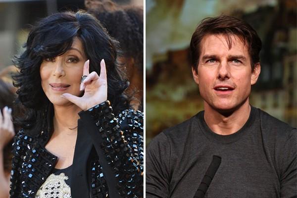 Dezesseis anos mais velha, Cher namorou o ator Tom Cruise no meio dos anos 80. A cantora falou que ele era um garoto muito tímido, já que ainda não era muito famoso, e garante que ele está no seu top 5 de homens da sua vida. (Foto: Getty Images)