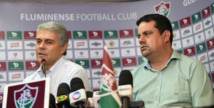 Peter Siemsen e Jorge Macedo - Fluminense - caso Fred (Foto: André Durão)