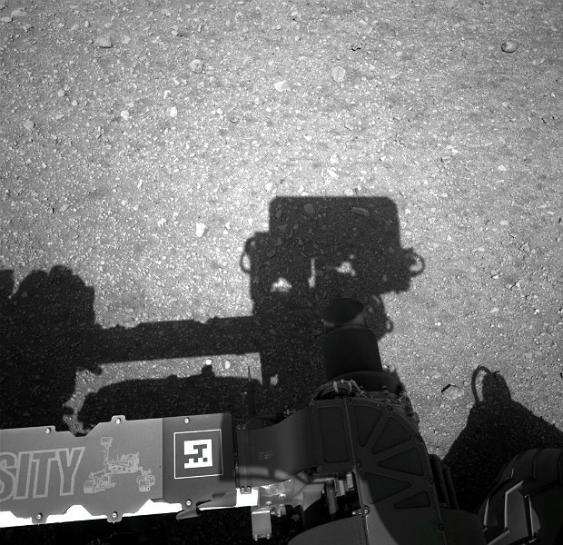 Curiosity sombra (Foto: Nasa/JPL-Caltech)