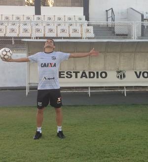 Magno Alves em sua segunda casa: o Vozão (Foto: Reprodução SporTV)