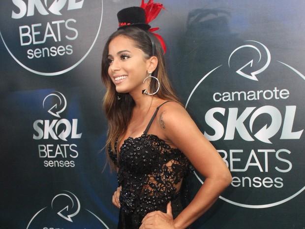 Em entrevista coletiva, Anitta revelou que já beijou na boca neste carnaval. Só não revelou quem foi. (Foto: Emmanuel Carneiro/Ag Haack)