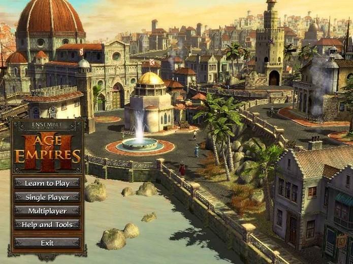 Age of Empires III só tem a Europa na tela de apresentação (Foto: Divulgação)