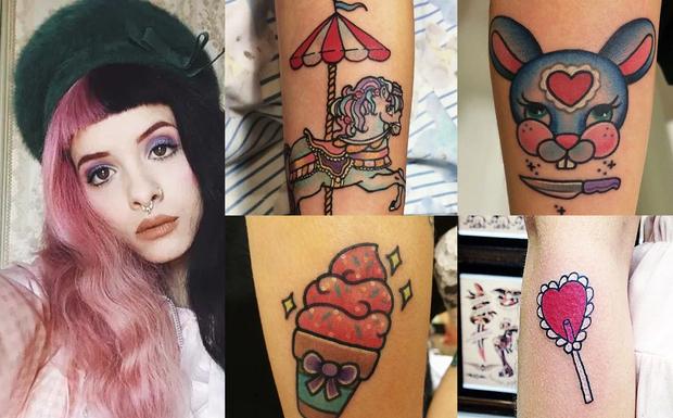 Melanie Martinez e suas tatuagens (Foto: Reprodução)