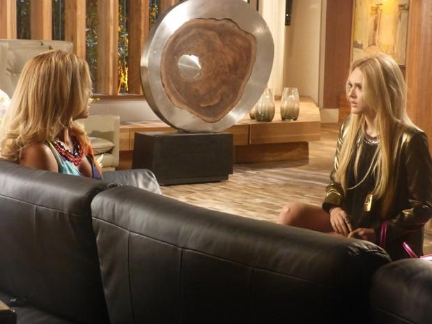 Megan descobre que Jonas tem um affair com Verônica e fica chocada (Foto: Geração Brasil/TV Globo)