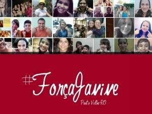 Pessoas publicam fotos com dedo rosto fazendo referência a 'covinha' de Janine (Foto: Facebook/Divulgação)