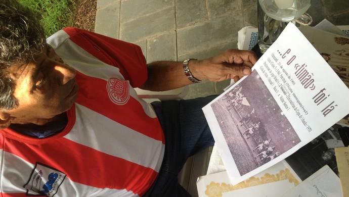 Walter Santos jogou em partida histórica no Maracanã vestindo a camisa do Moto Clube-RO (Foto: Hugo Crippa)