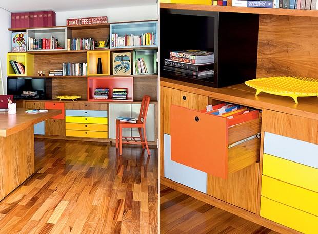 organizacao-escritorio-mesa-gavetas-macernaria (Foto: Maíra Acayaba/Editora Globo)