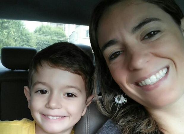 Daniela e filho  (Foto: Acervo pessoal)